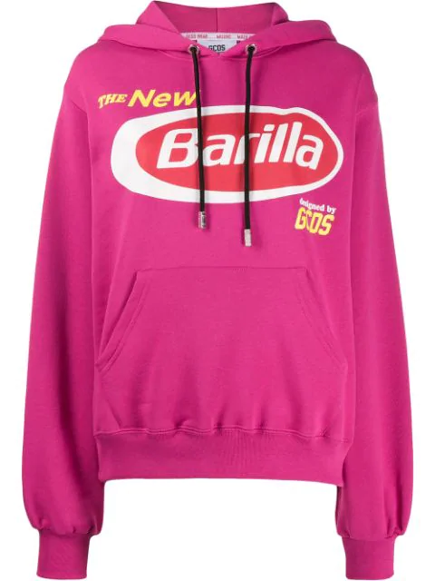 Gcds Graphic Print Hoodie In Pink