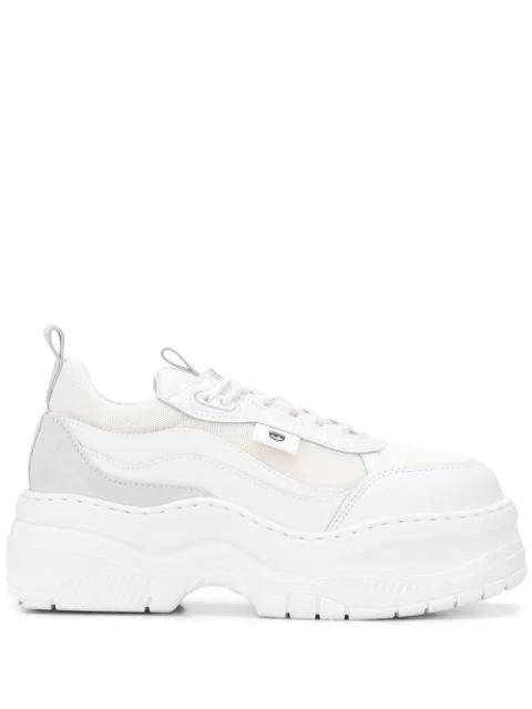 Chiara Ferragni Flirting Eye Platform Sneakers In 009 White