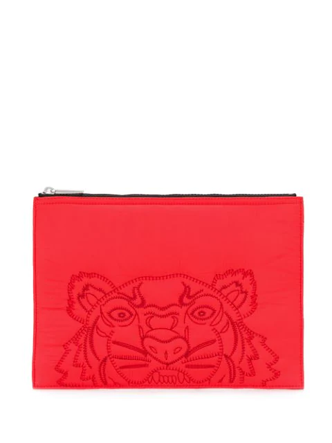 Kenzo Tiger Clutch In Red