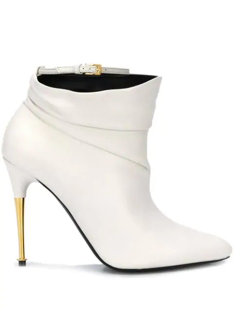 Tom Ford Stiletto Ankle Boots In U1003 White