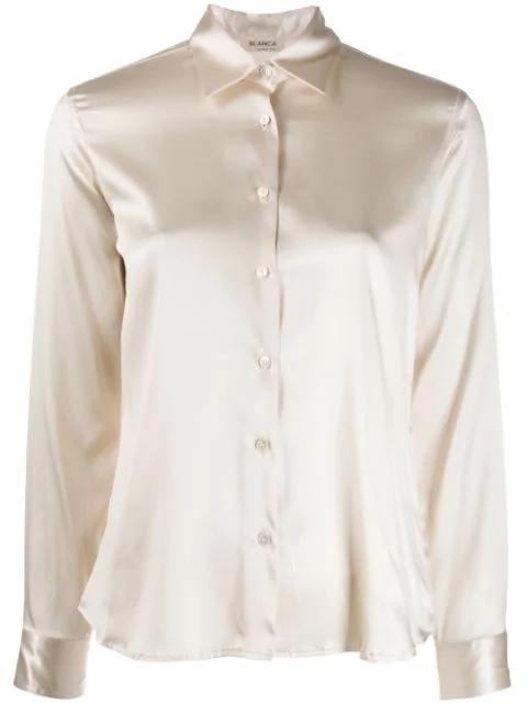 Blanca Silk Fitted Shirt In Neutrals