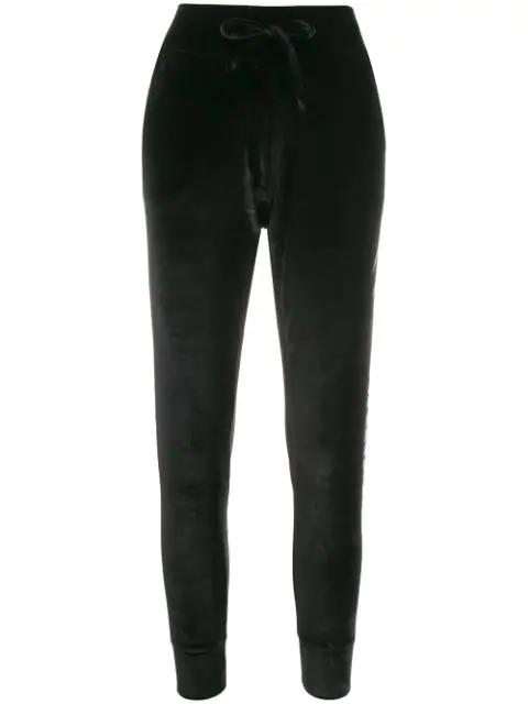 Plein Sport Embellished Logo Track Pants In Black