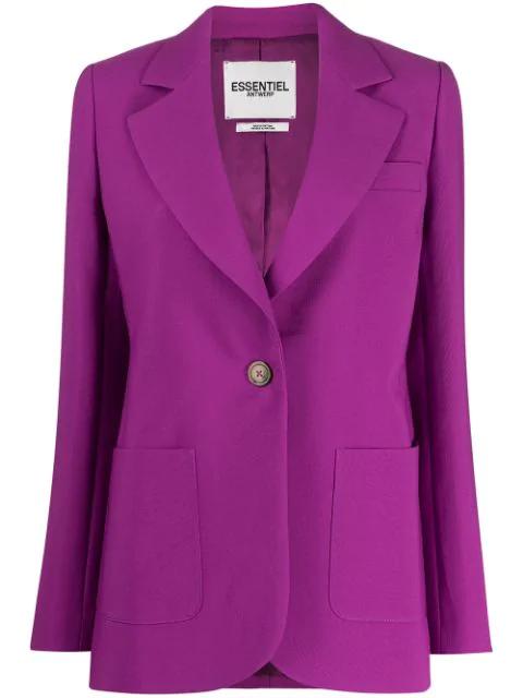 Essentiel Antwerp Temporary Tailored Blazer In Pink