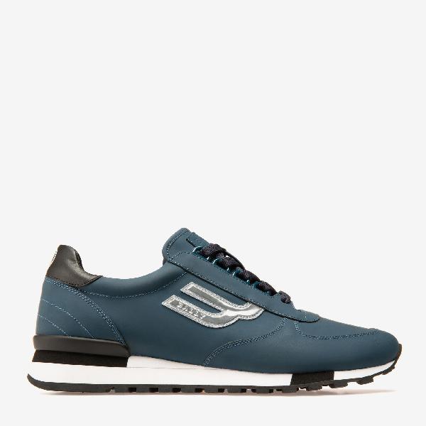 Bally Gavino Low Top Sneaker In Blue