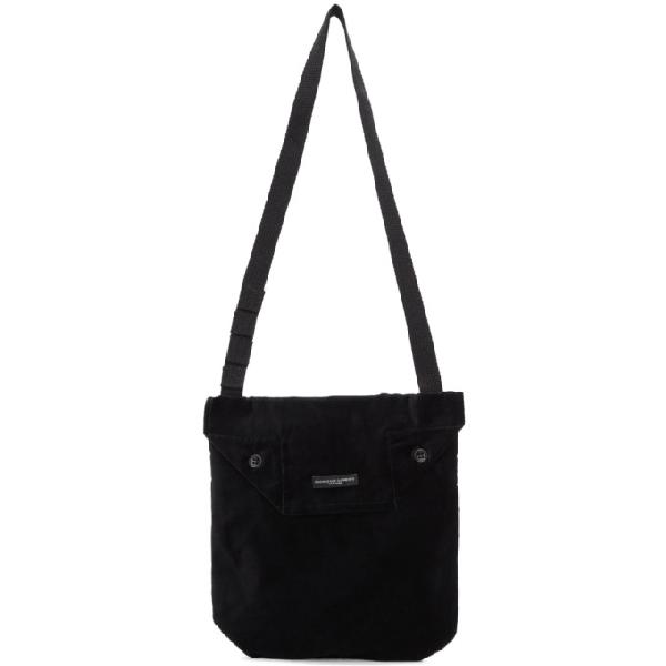 Engineered Garments Black Velvet Tote In Wp006 Black