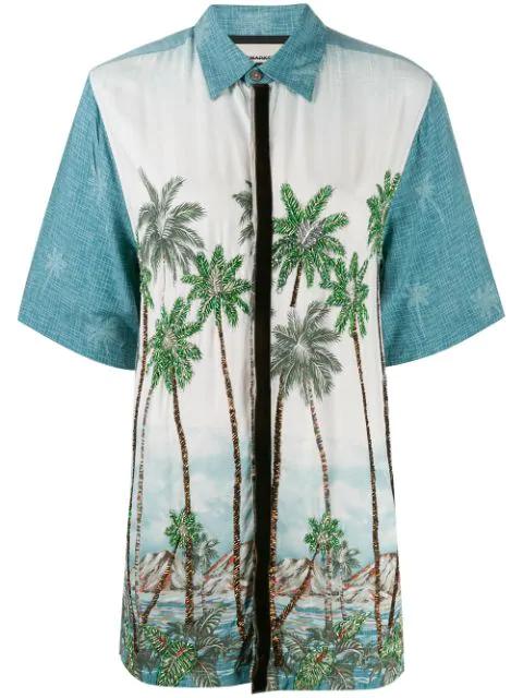 Night Market Beaded Hawaiian Shirt In White