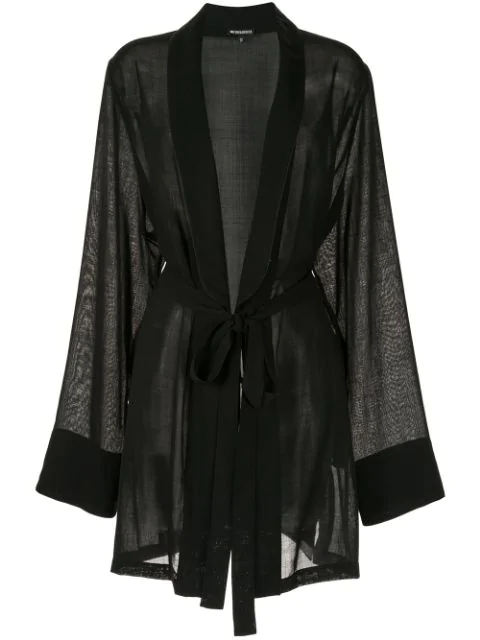 Ann Demeulemeester Voile Cardigan In 099   Black