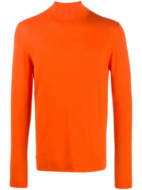 J.lindeberg Newman Turtleneck Jumper In Orange