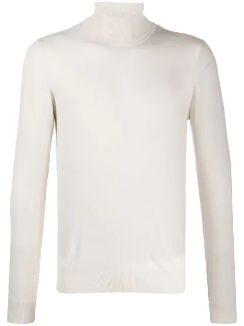 J.lindeberg Lyd Turtleneck Jumper In White