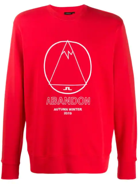J.lindeberg Hurl Graphic Print Sweatshirt In Red