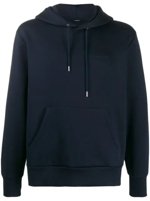 J.lindeberg Chip Embroidered Logo Hoodie In Blue