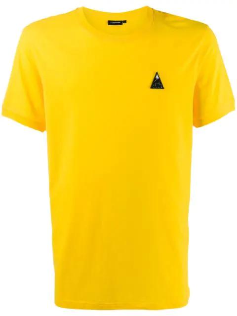 J.lindeberg Bridge Embroidered Logo T-shirt In Yellow