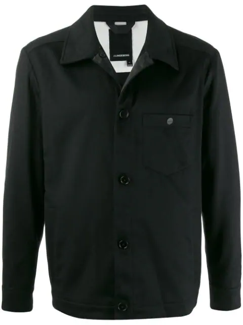 J.lindeberg Patch Pocket Shirt Jacket In Black