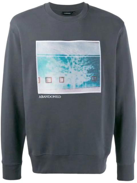J.lindeberg Hurl Graphic Print Sweatshirt In Gray
