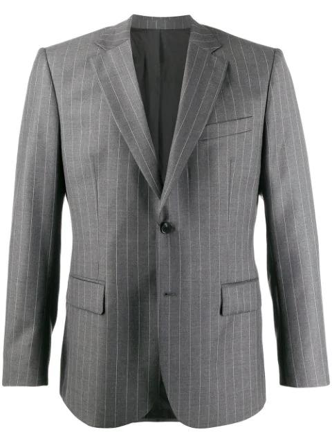 J.lindeberg Donnie Striped Blazer In Gray