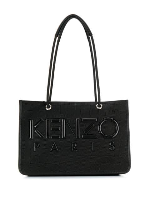 Kenzo Handtasche Mit Logo-patch In Black