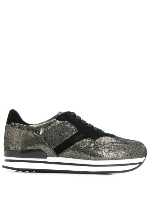 Hogan Leather Lace In Black