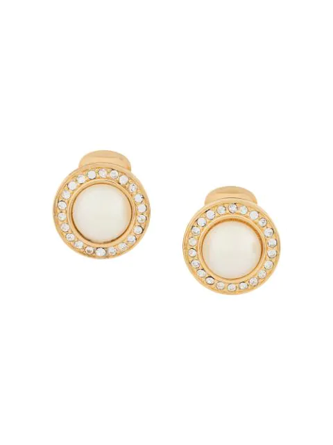 Pre-owned Dior Clip-on Earrings In Gold