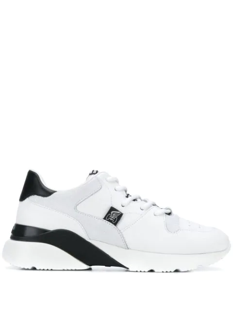 Hogan Active One Logo Tongue Sneakers In White