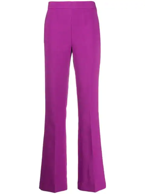 Essentiel Antwerp High Waisted Bootcut Trousers In Pink