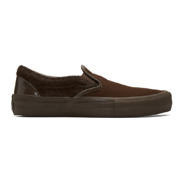 Engineered Garments Brown Vans Edition Classic V Slip-on Sneakers