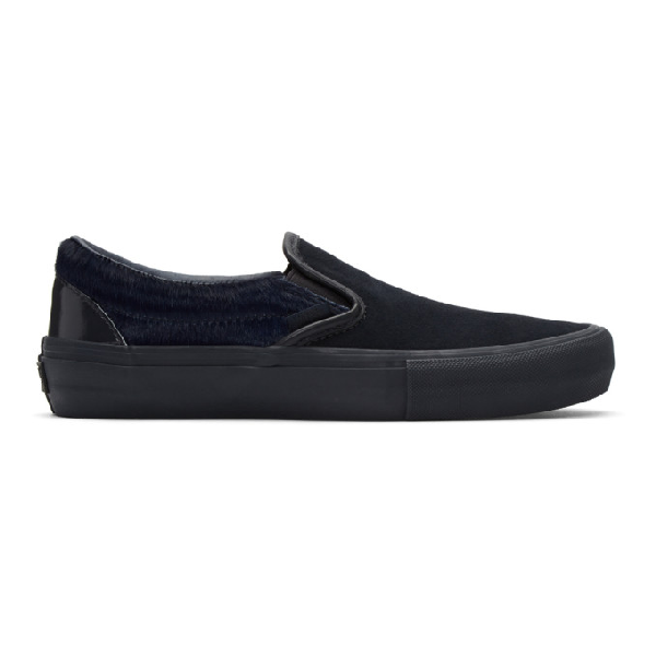 Engineered Garments Navy Vans Edition Classic Slip-on V Sneakers