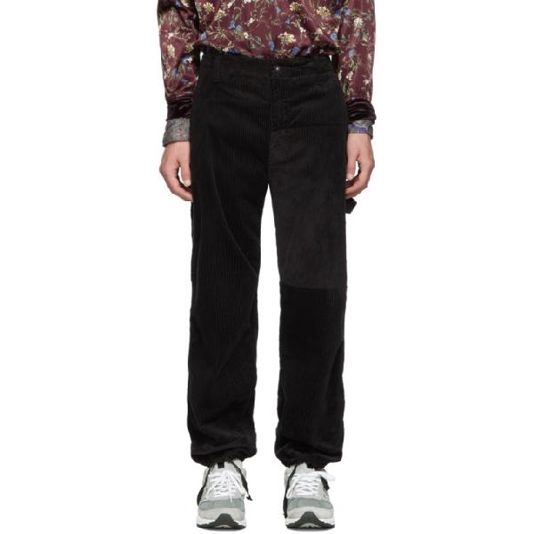 Engineered Garments Black Corduroy Painter Trousers In Sv009 Black