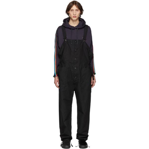 Engineered Garments Black Canvas Overalls In Wl003 Black