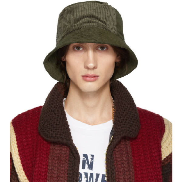Engineered Garments Green Corduroy Bucket Hat