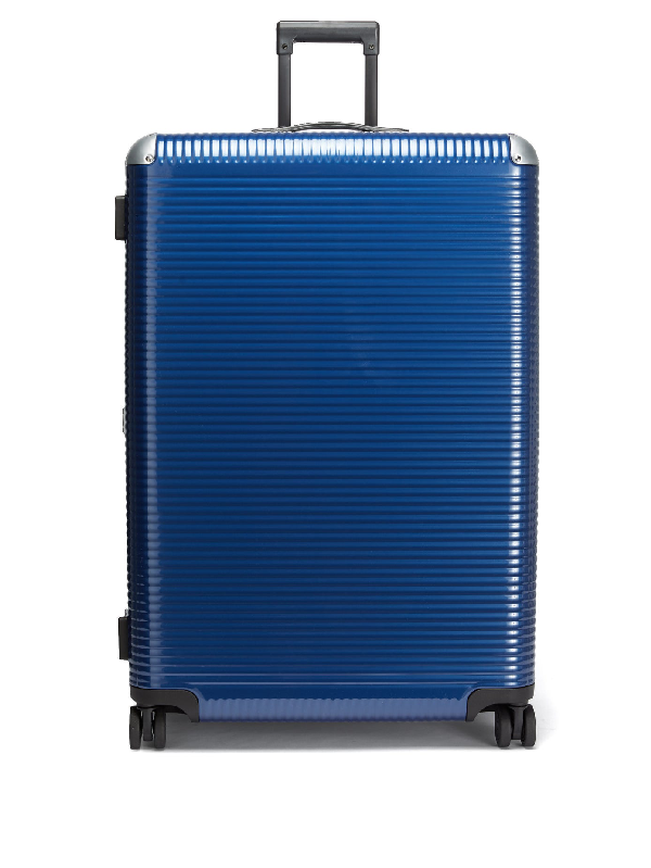 Fabbrica Pelletterie Milano Bank Light Trunk Polycarbonate Suitcase In Blue