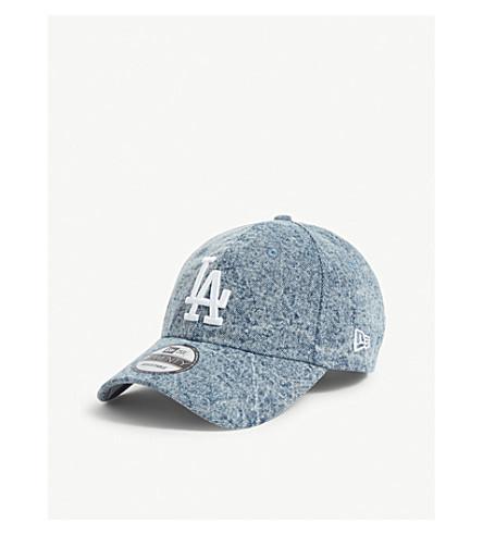 New Era 9twenty Los Angeles Dodgers Cotton Denim Baseball Cap In Light Blue
