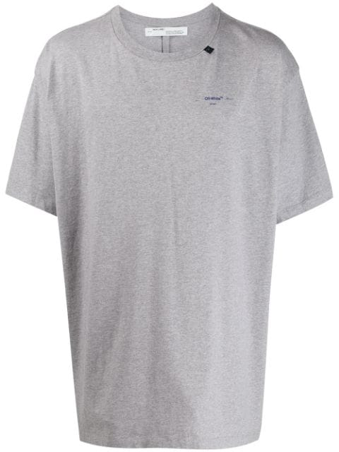 Off-White Arrows Oversized T-Shirt In Grey