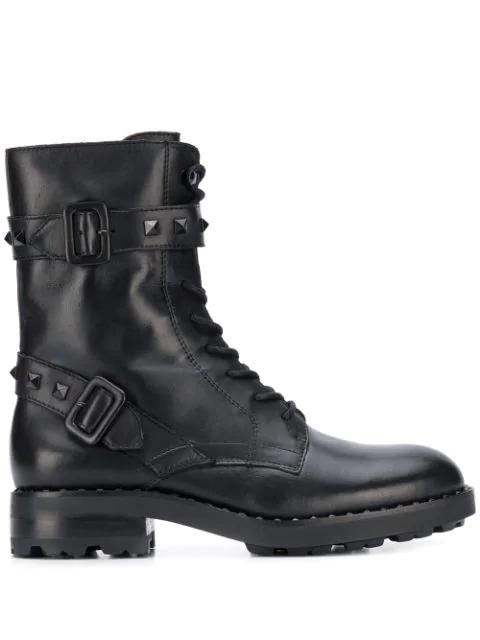 Ash Leather Witch Bis Biker Boots Colour: Black