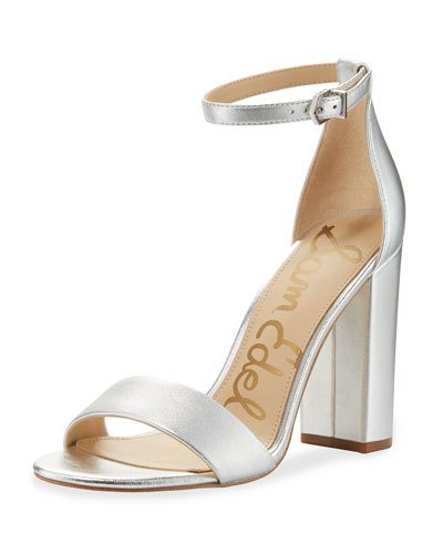 e916dadba4c Yaro Metallic Block-Heel Sandal, Silver