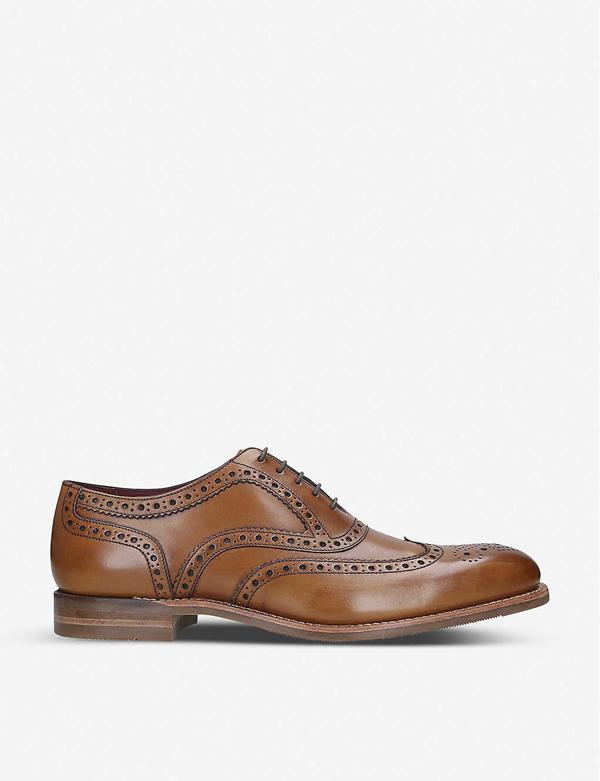Loake Kerridge Leather Oxford Shoes In Tan