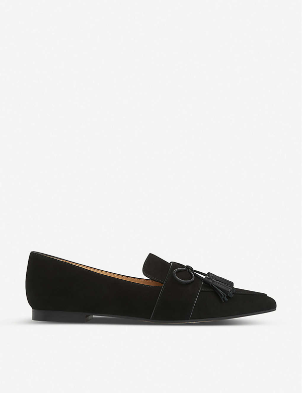 Lk Bennett Celina Suede Loafers In Bla-black