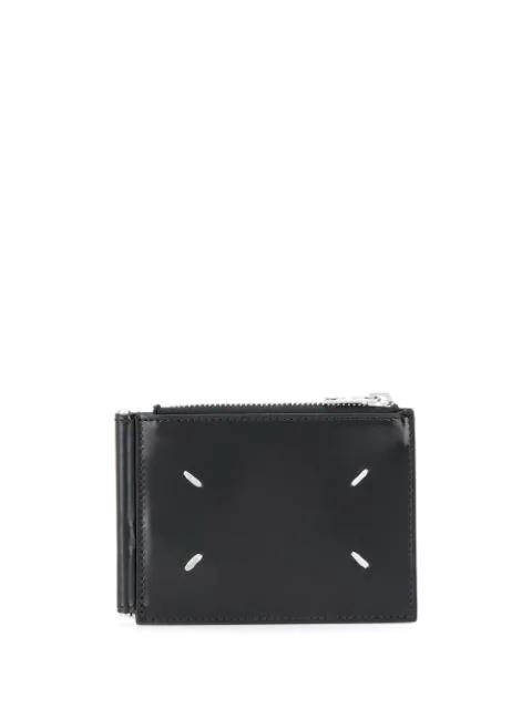 Maison Margiela Zip Top Cardholder Wallet In Black