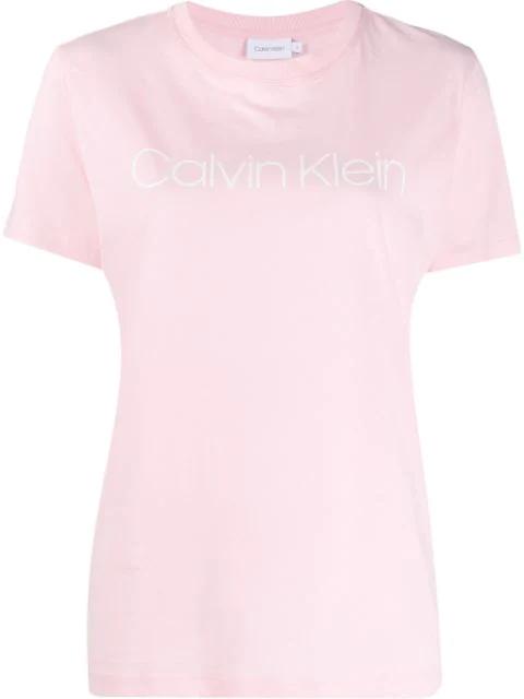Calvin Klein Printed Logo T-shirt In Pink