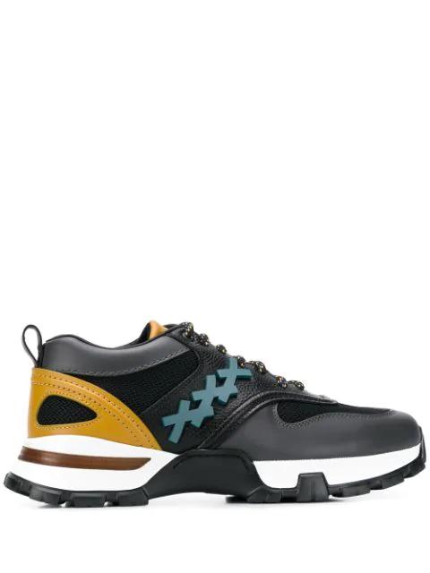 Ermenegildo Zegna Lace-up Sneakers In Black