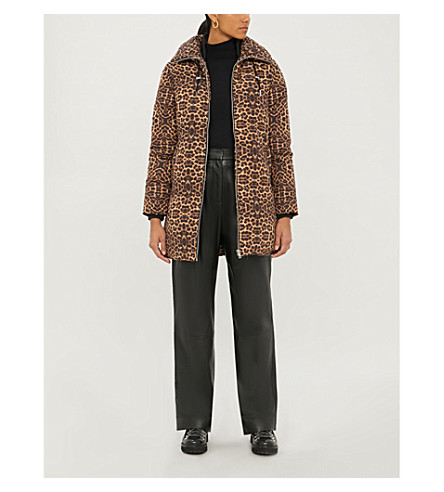 Maje Leopard-print Shell Puffer Jacket In Printed
