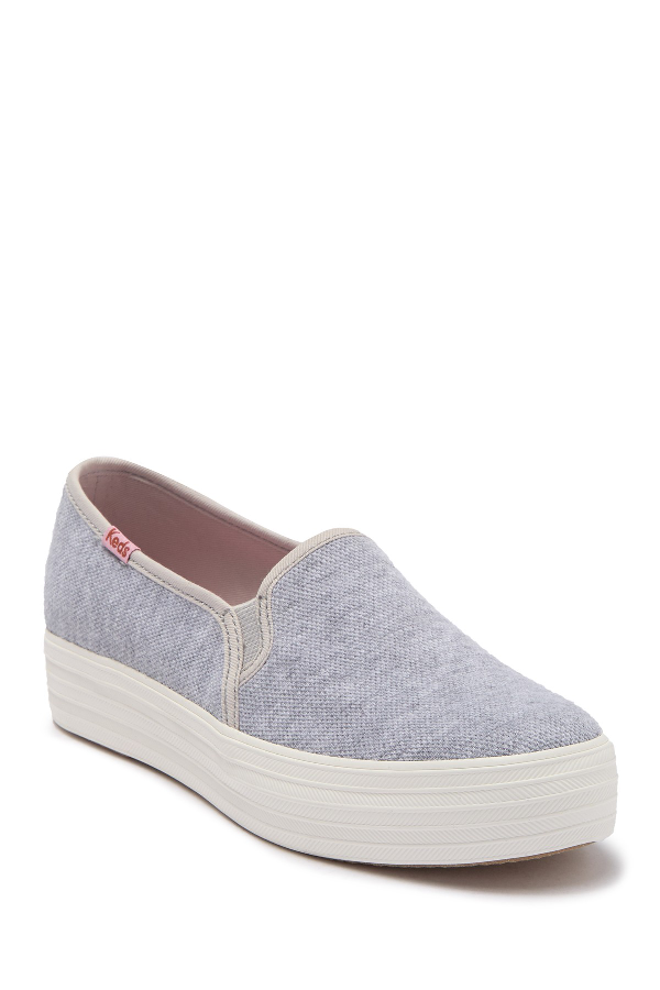 Keds Triple Decker Platform Sneaker In Lt Gray