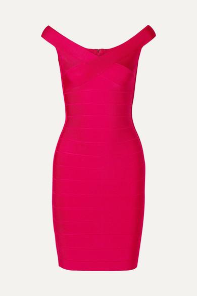Herve Leger HervÉ LÉGer Woman Bandage Mini Dress Red In Bright Pink