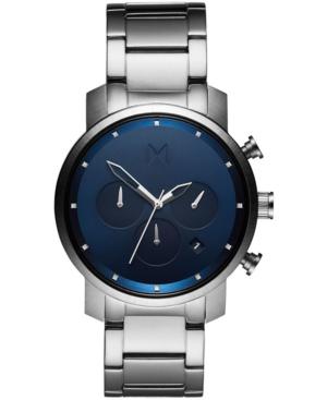 Mvmt Men's Chrono Stainless Steel Bracelet Watch 40mm In Silver Stainless Steel