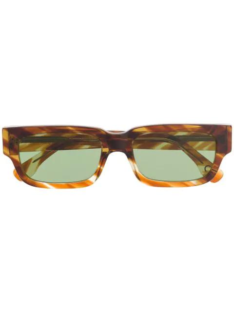 Retrosuperfuture Roma Angular Sunglasses In Brown