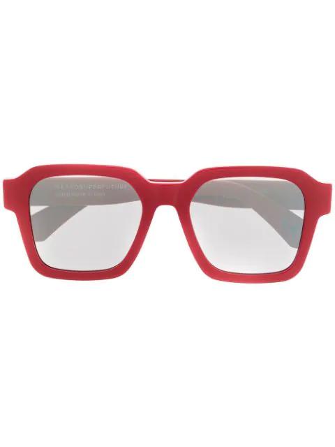 Retrosuperfuture Vasto Oversized Sunglasses In 红色