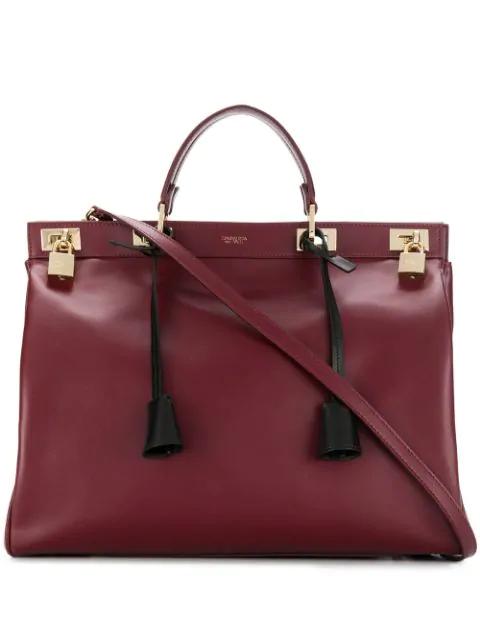 Giambattista Valli Flore Big Tote Bag In Red
