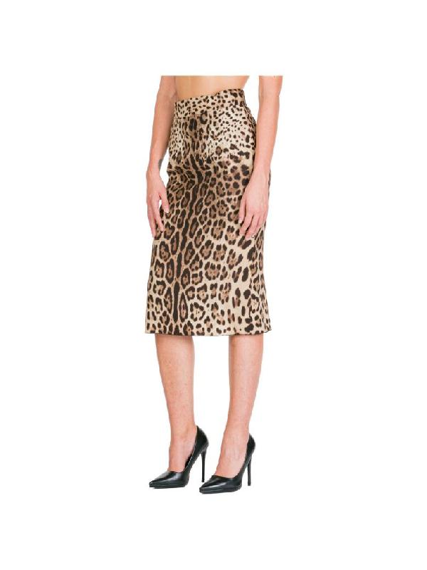 Dolce & Gabbana Adidas X Parley Maxi Skirt In Marrone