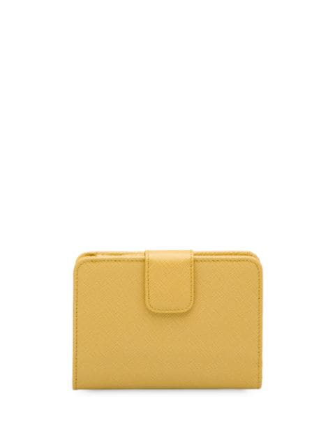 Prada Saffiano Wallet In Yellow