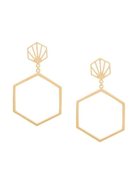 Rachel Jackson Ohrringe Mit Sechseckigem Design In Gold