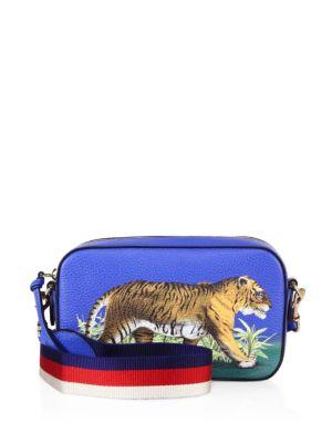 42884efa6616 Gucci Bengal Tiger Print Cross-Body Bag In Blue-Multi   ModeSens